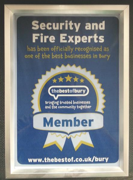 Security And Fire Experts are an Official partner of the Best Of Bury