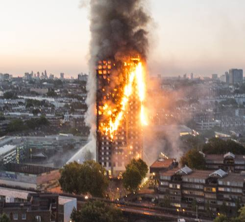 Grenfell Tower Fire in London