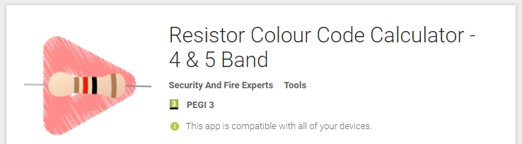Resistor color band calculator app